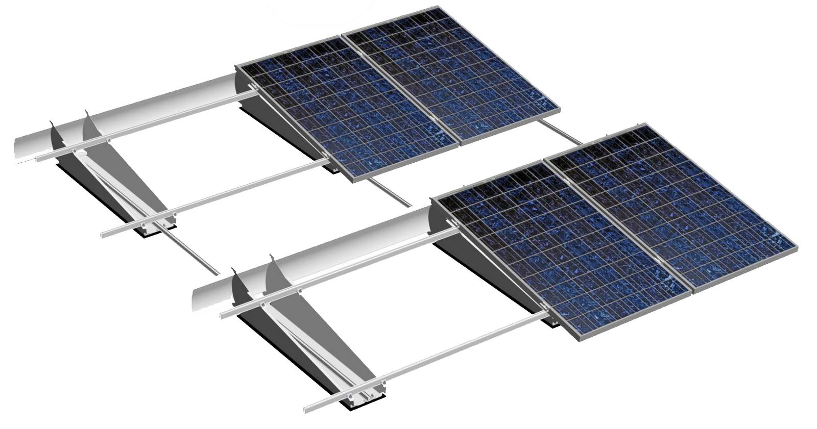 Mogelijkheden voor het opstellen en bevestigen van zonnepanelen